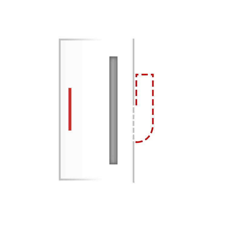 Türgriff für Haustür mit Griffmulde Modell ZAE 105 M