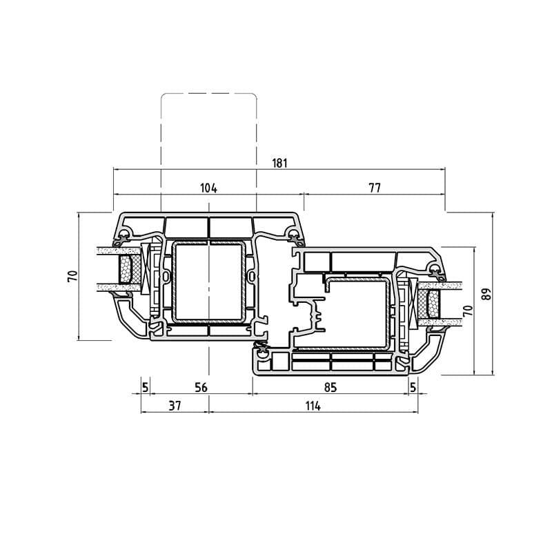 detailzeichnungen haust ren kunststoff. Black Bedroom Furniture Sets. Home Design Ideas