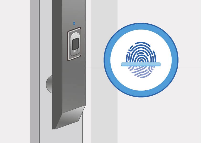 Haustür mit Fingerprint