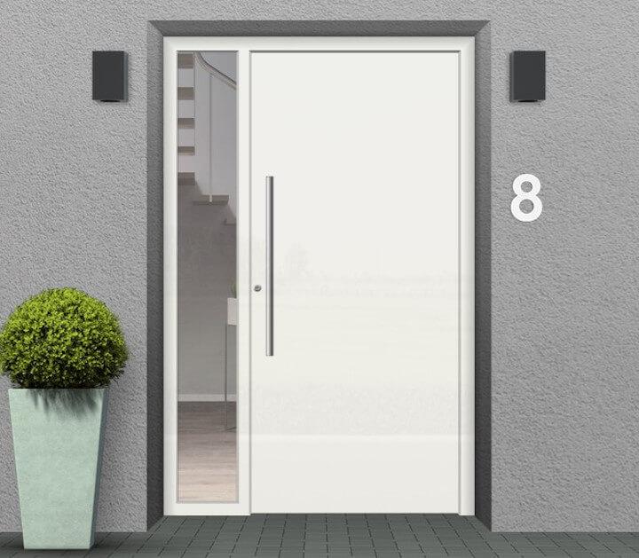 Haustür mit Seitenteil links