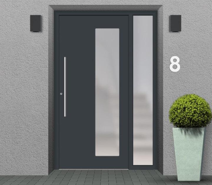 Haustür mit Seitenteil rechts