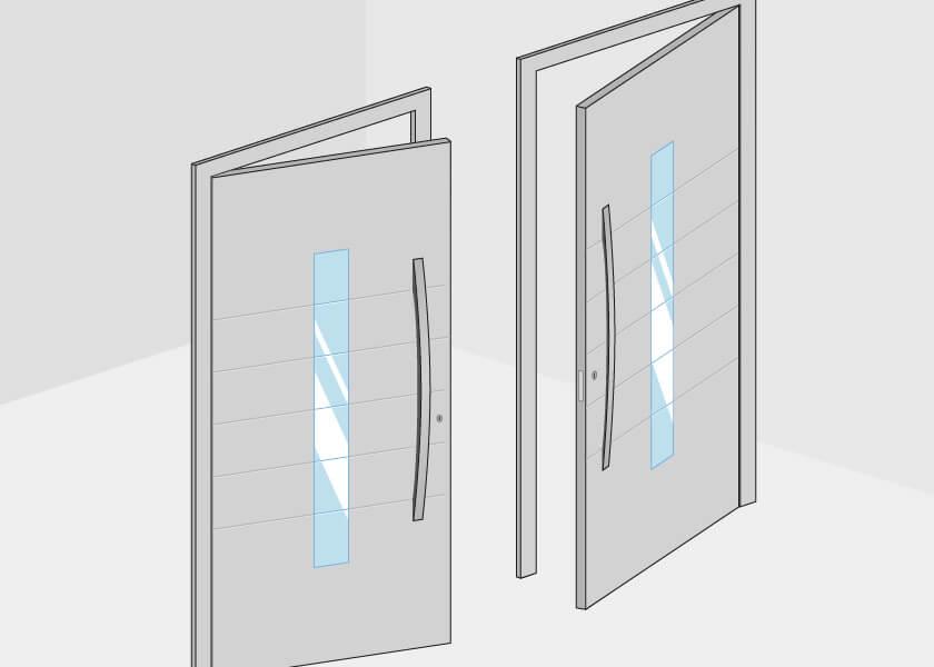 Haustüren Nebeneingangstüren Anschlag