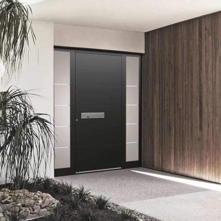 Luxus Haustür in Schwarz