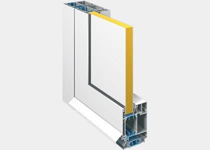 Nebeneingangstüren Aluminium Profildetails