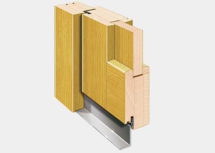 Nebeneingangstüren Holz Profildetails