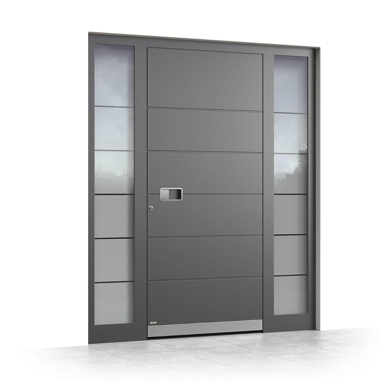 Aluminium Haustür Stuttgart Seitenansicht