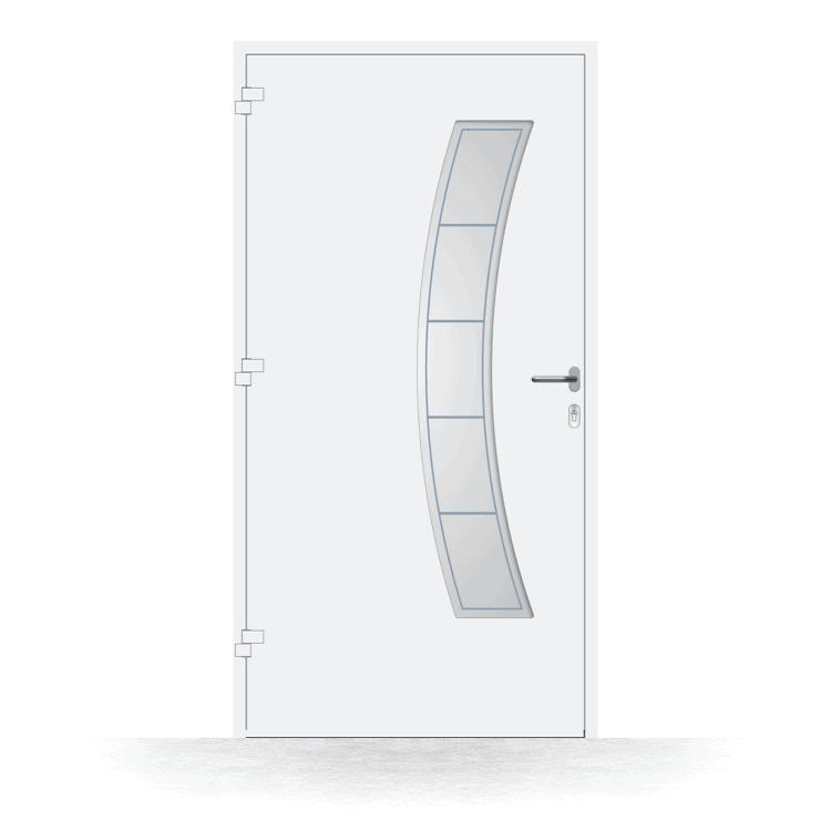 Haustür Modell Gießen in Weiß von innen