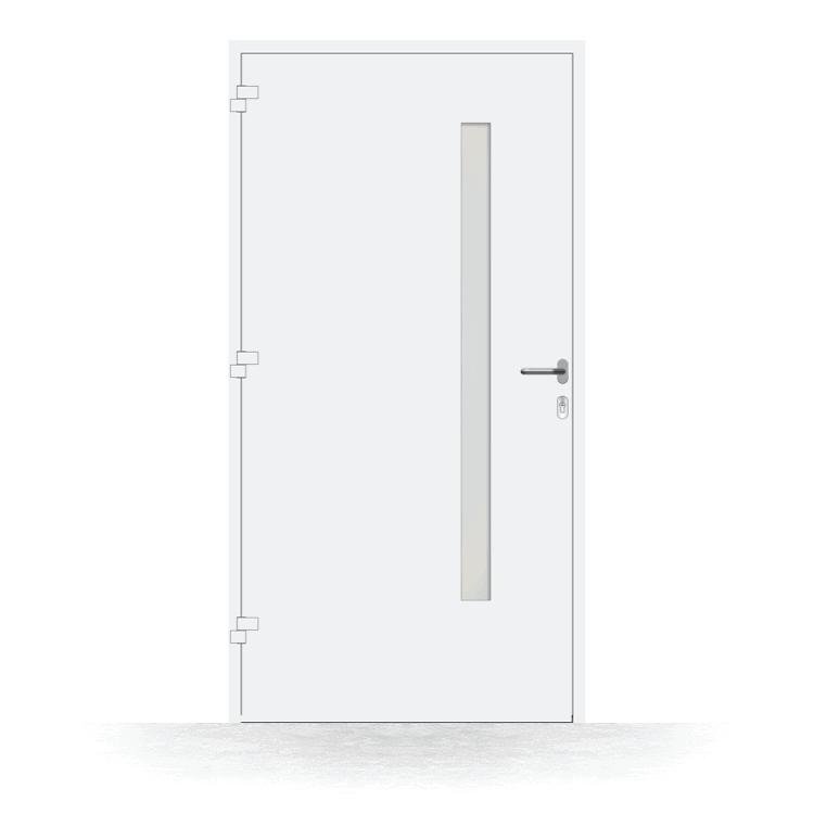 Haustür Modell Hagen in Weiß von innen