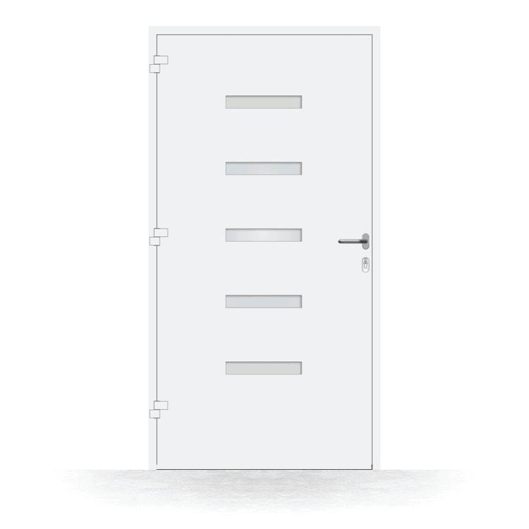 Haustür Modell Kiel in Weiß von innen