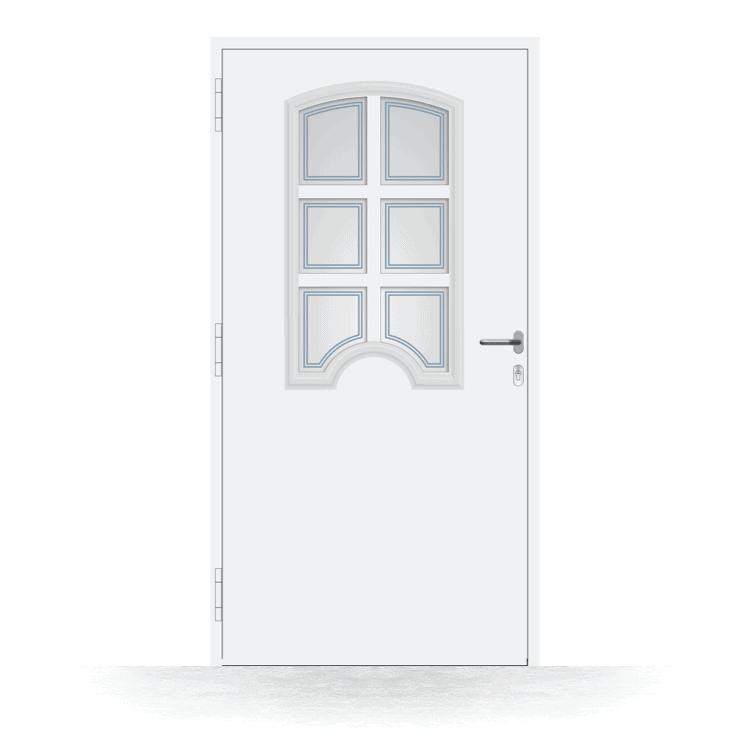 Haustür Modell Konstanz in Weiß von innen