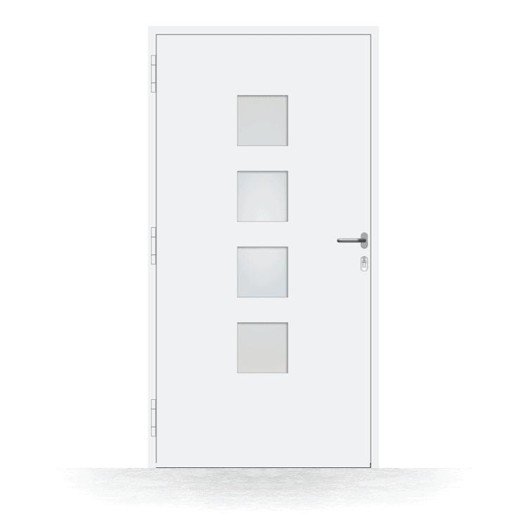 Haustür Modell Mülheim in Weiß von innen