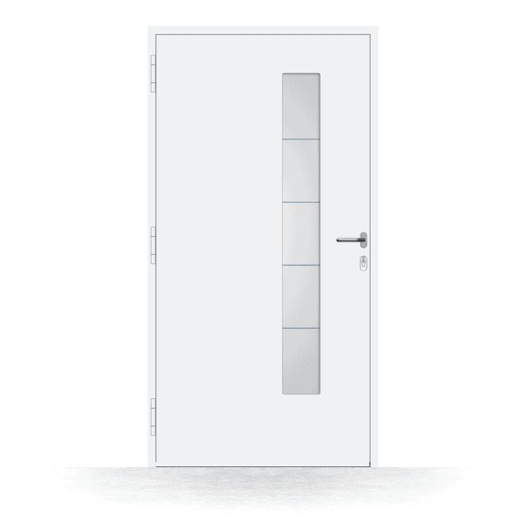Haustür Modell Ratingen in Weiß von innen