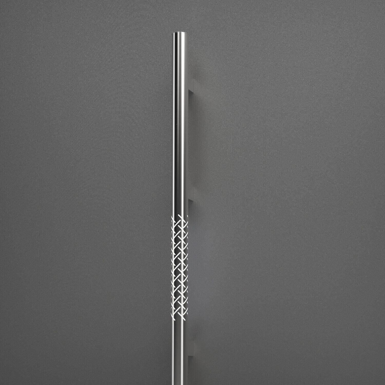 Haustür Außengriff aus Edelstahl (Rundprofil) mit Beleuchtung