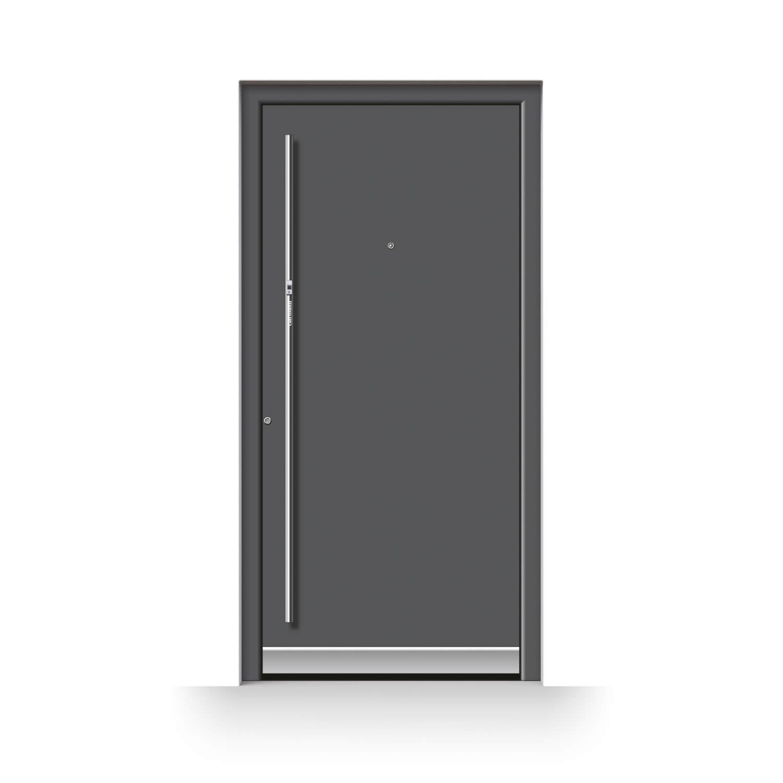 Haustür Modell Berlin mit Fingerscanner und Türspion
