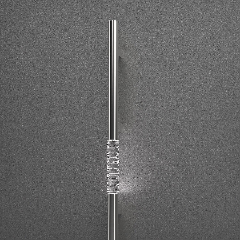 Haustürgriff (Stangengriff) aus Edelstahl mit Glaseinsatz