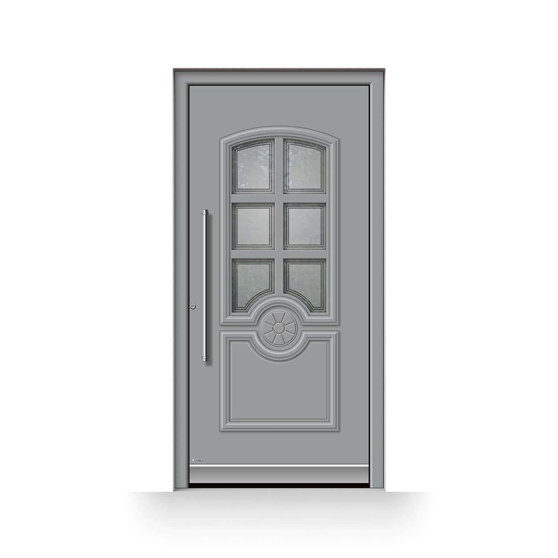 Haustür Modell Konstanz in Grau