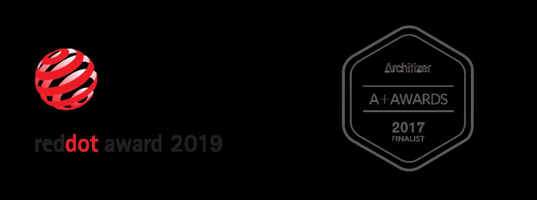reddot Award 2019 und Architizer 2017