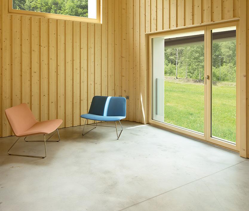 Balkontür aus Holz-Alu