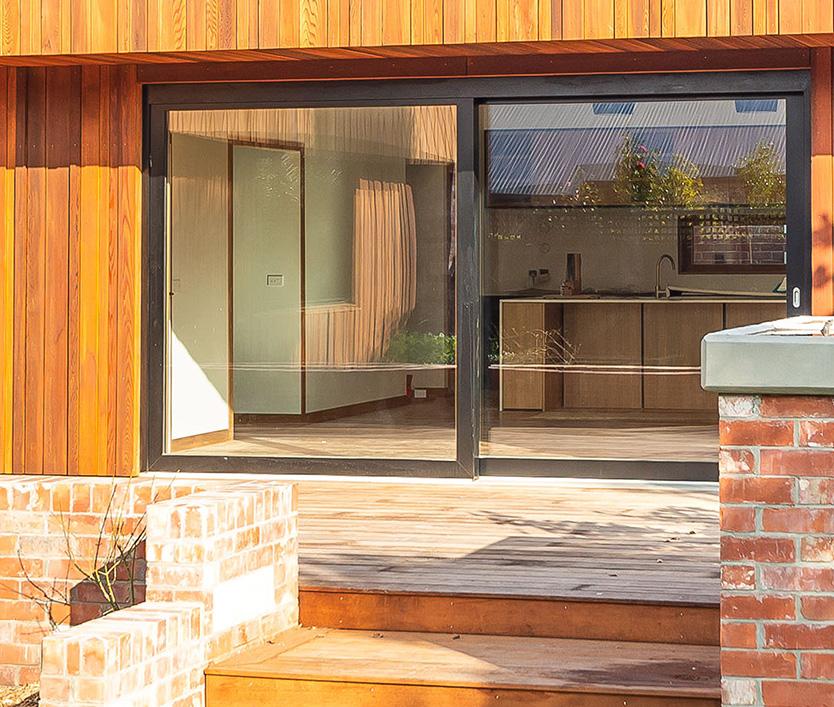 PSK-Tür aus Holz-Alu