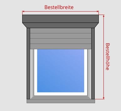 Vorbaurollladen ausmessen bei Mauerwerksmontage