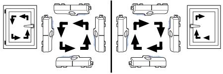 Winkhaus Fensterbeschläge: Bestimmung der Einlaufseiten