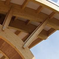 Vordach Holz Detailansicht