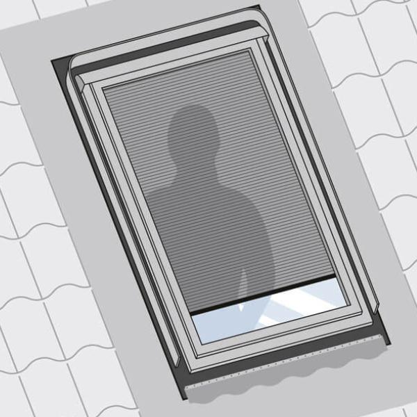 Sichtschutz für Dachfenster