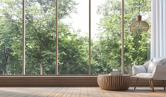 Fensterfront von Innen