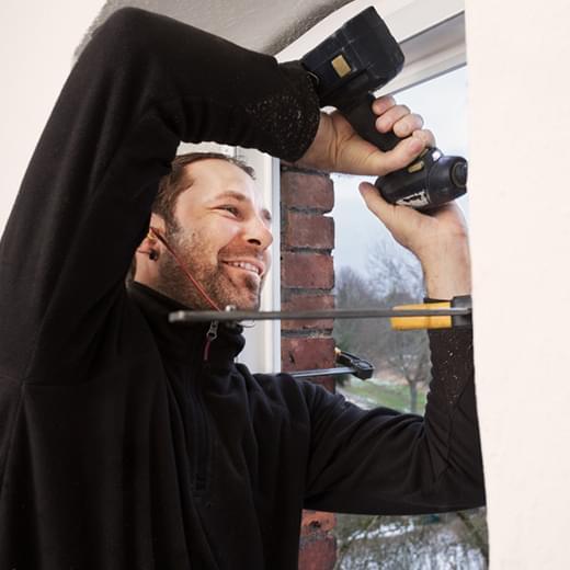 Befestigung des Fensters