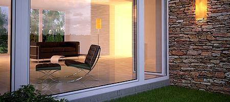 Energiesparende Glasscheibe