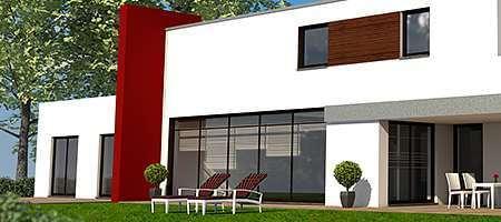 Fenster und Türen bei modernem Gebäude