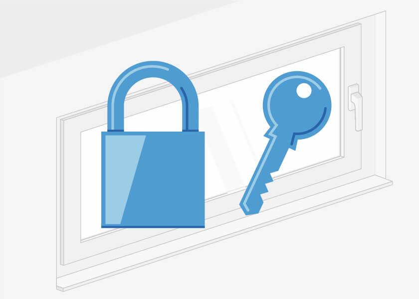 Kellerfenster sichern
