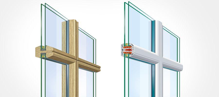 Glasteilende Sprossen für Fenster und Balkontüren