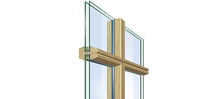 Glasteilende Sprosse - Holz Fenster