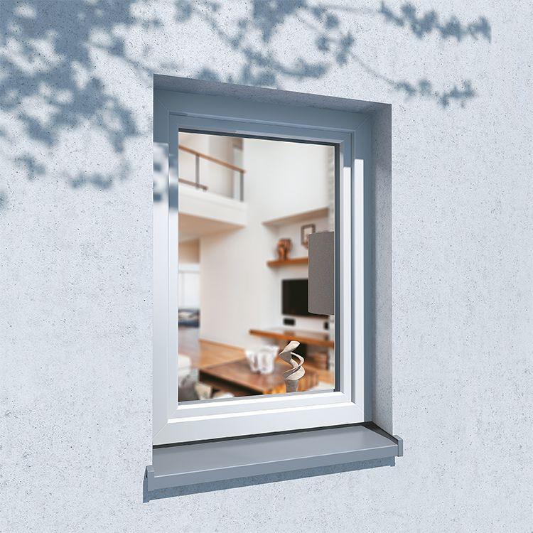 IDEALU Trendline Fenster Einbausituation außen