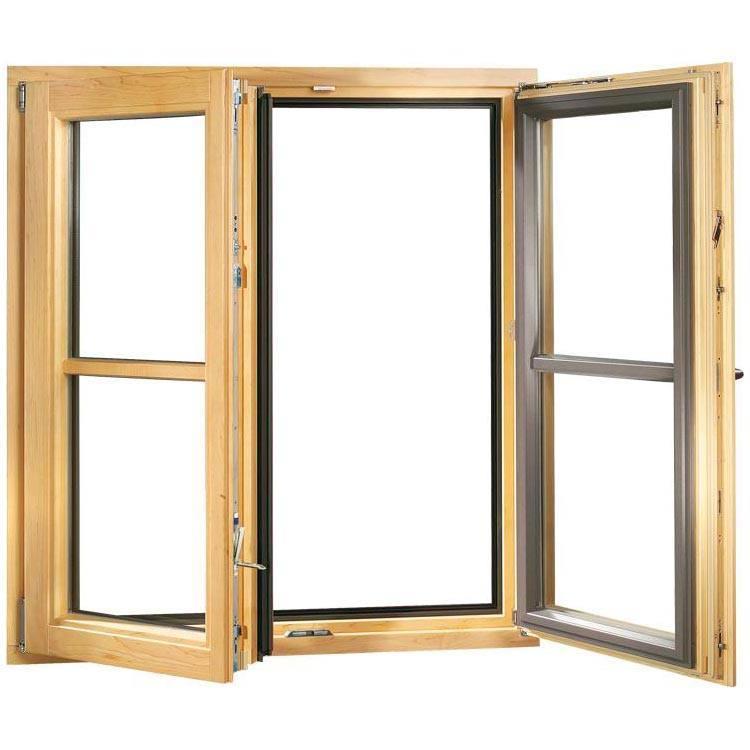 Holz-Alu Fenster mit Sprossen