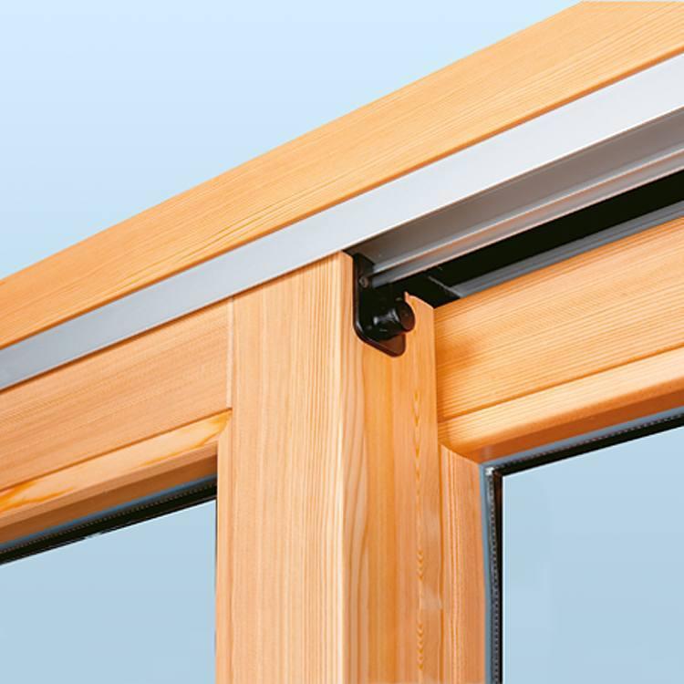 Hebeschiebetüre Holz Detail Stopper