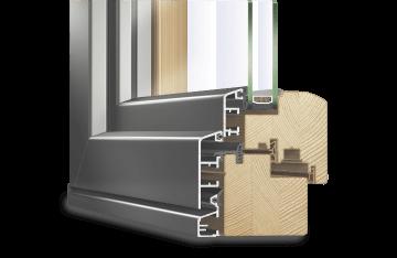 Holz-Aluminium Faltschiebetür IDEALU VI 68