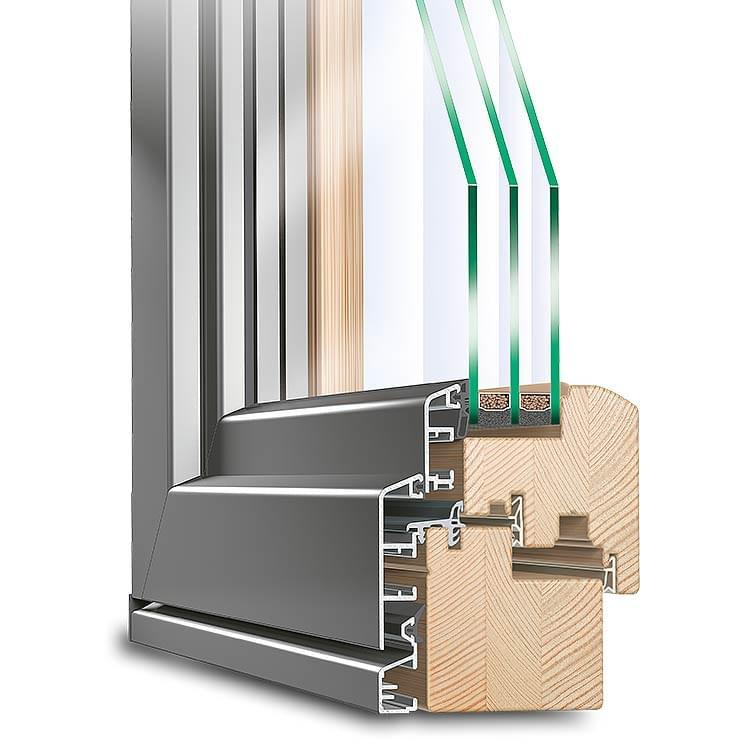 Balkontür Holz-Alu Idealu Classicline IV 78