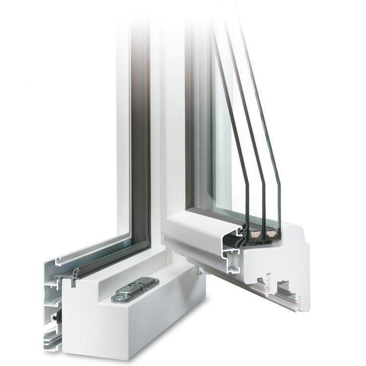 IDEALU Trendline Fenster IV 78 geöffnet in Weiß