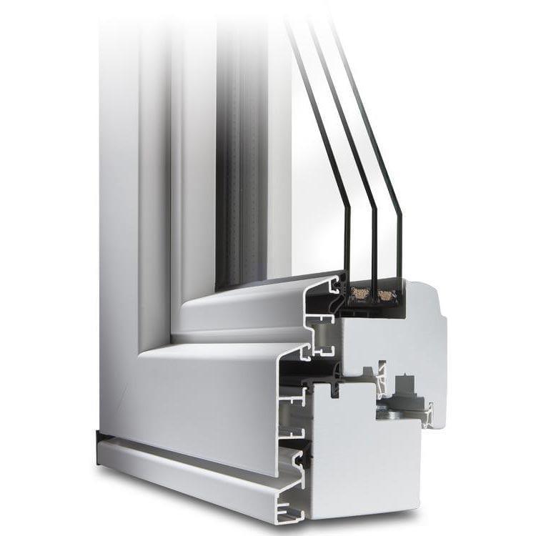 Holz-Alu Fenster IV 78 Querschnitt IDEALU Trendline