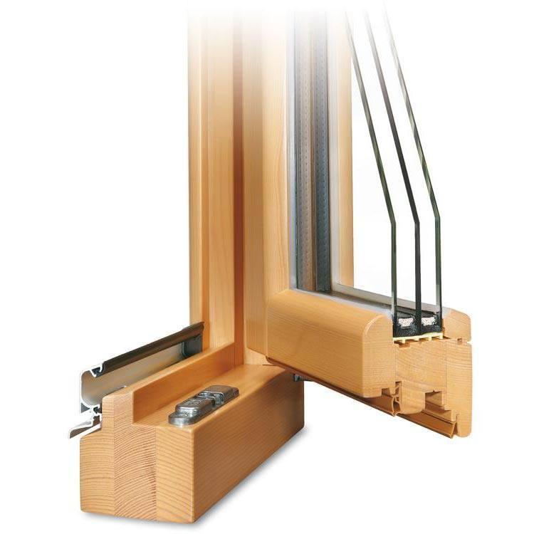 Balkontür Holz Profil Roundline IV 78 geöffnet