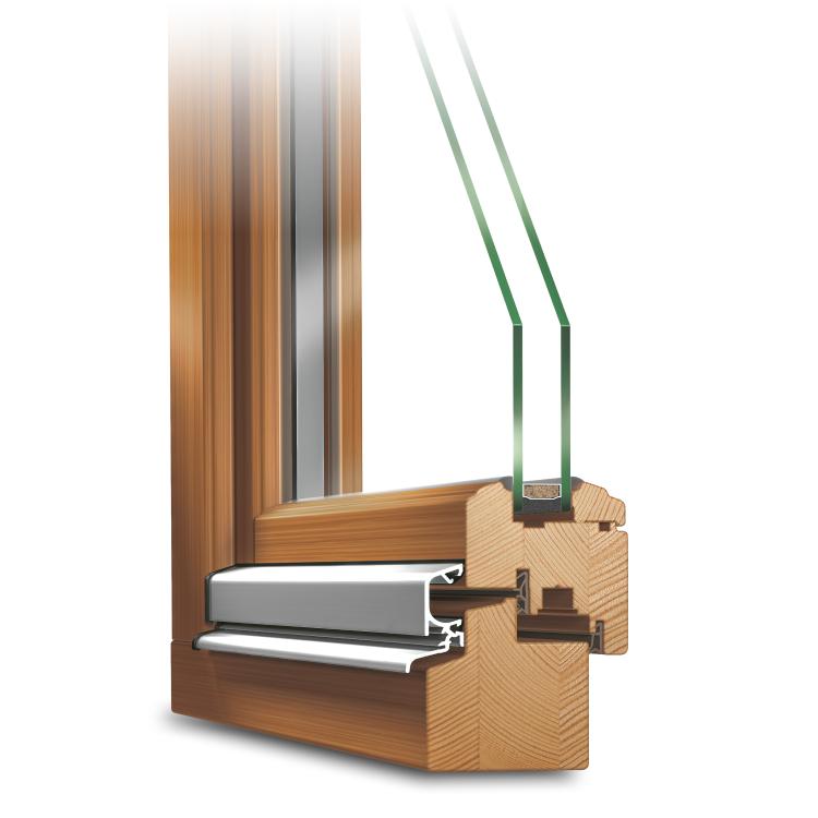 Holzfenster Roundline IV 68