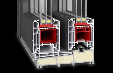 Hebeschiebetür Kunststoff-Aluminium - Twinset Premium