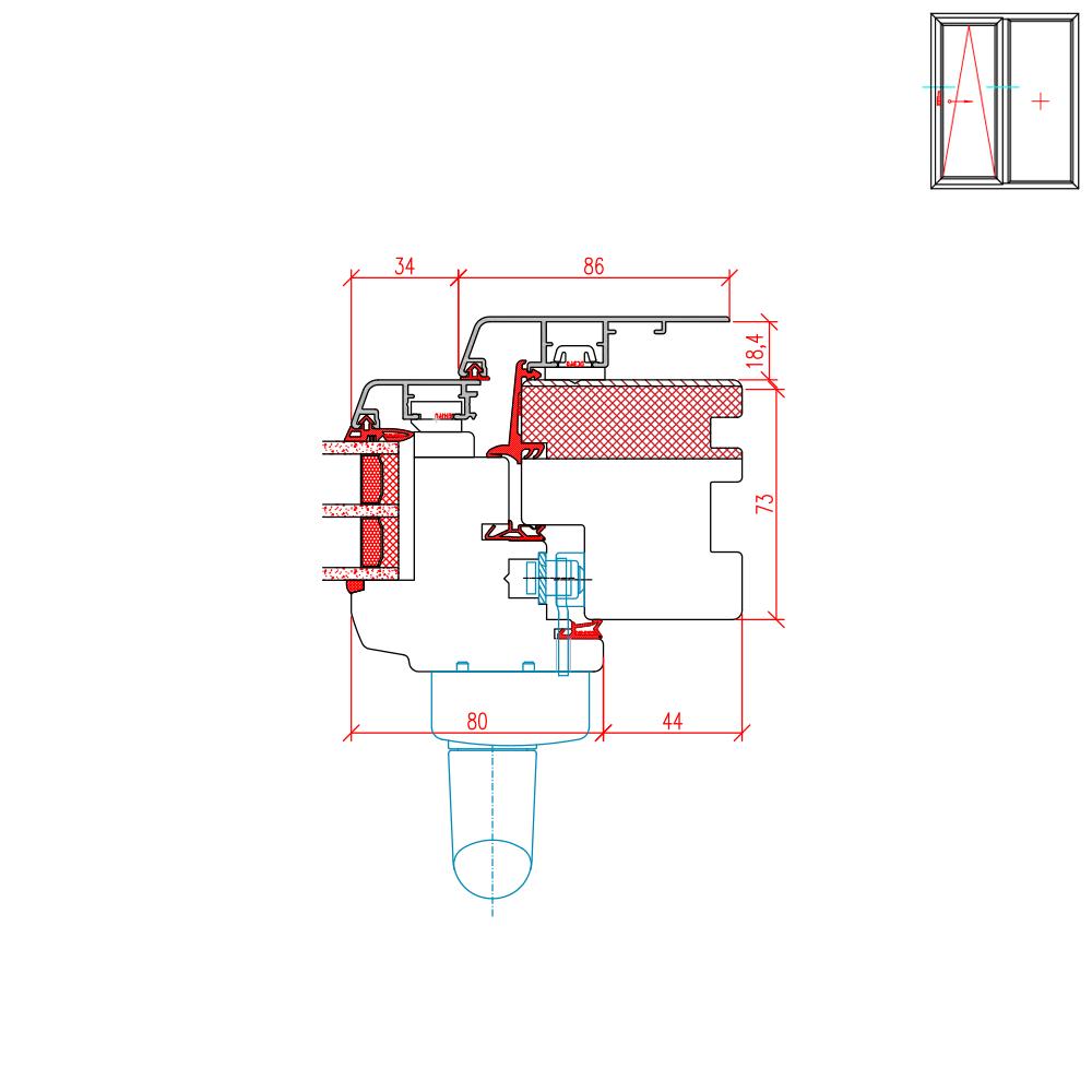 ECO Idealu Classicline PSK - Detail Griffseite
