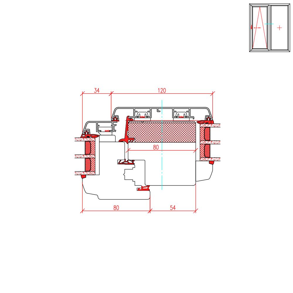 ECO Idealu Classicline PSK - Pfostendetail