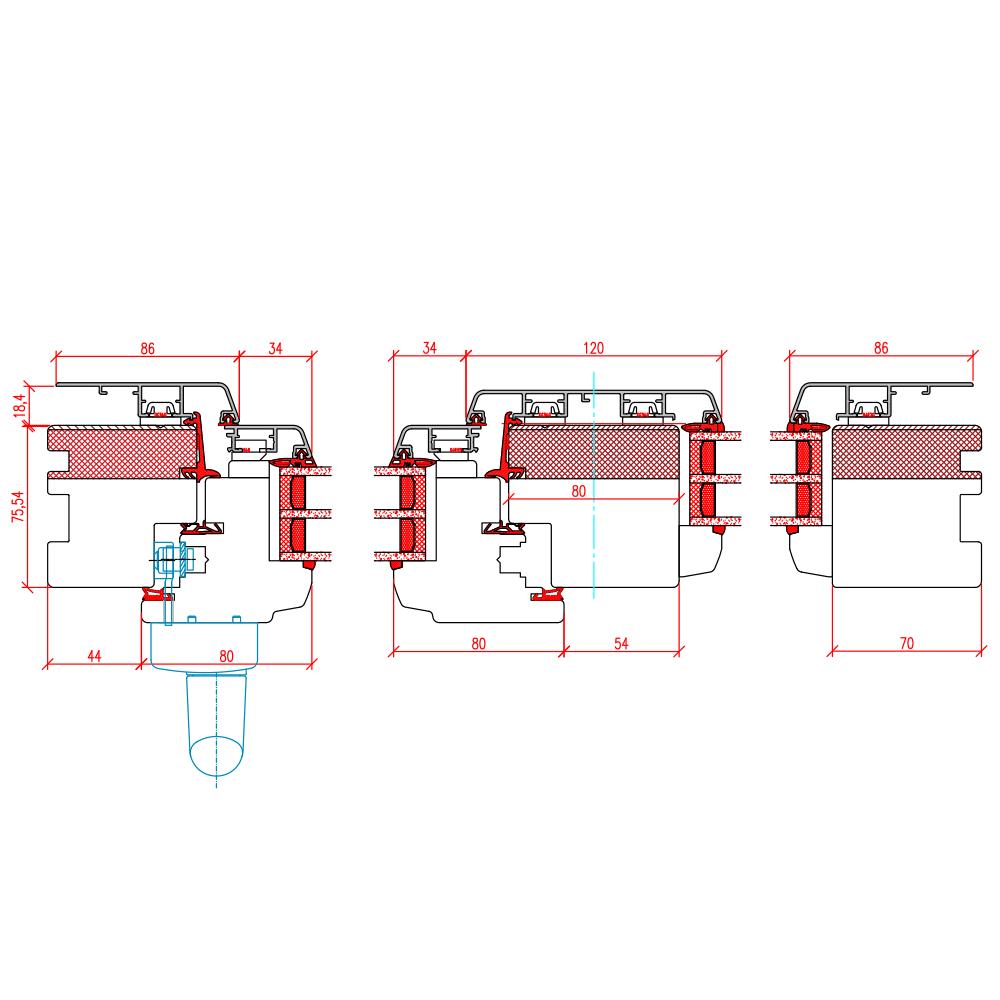 ECO Idealu Classicline PSK - Detail Vertikalschnitt