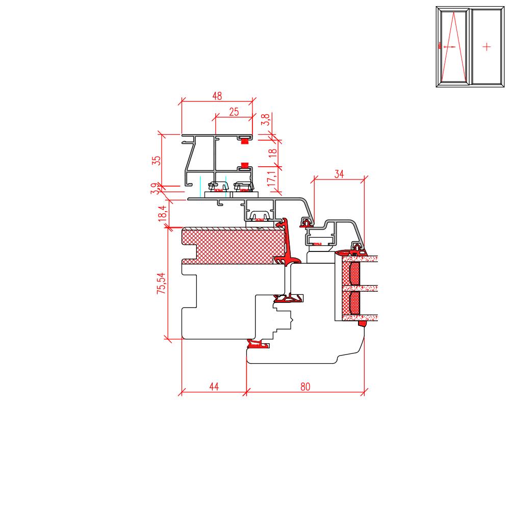 ECO Idealu Trendline PSK - Rollladenführungsschiene Neubau