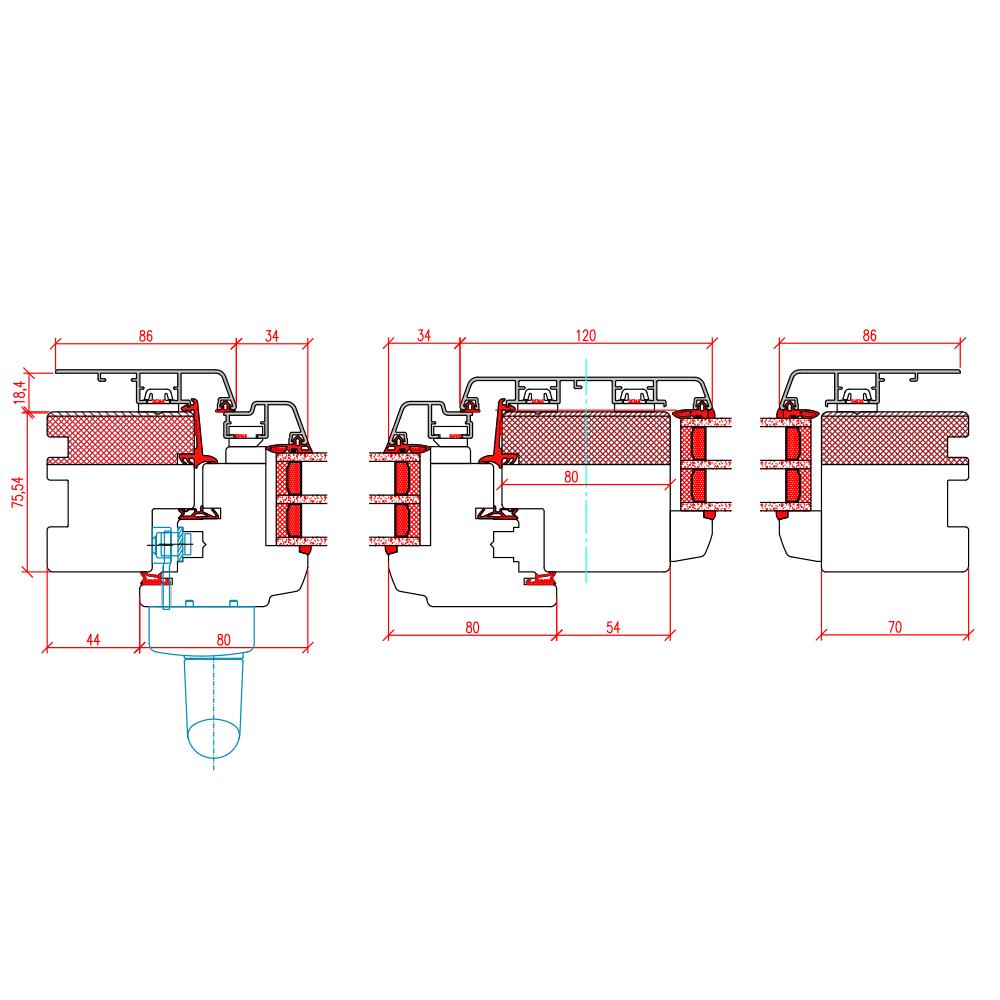ECO Idealu Trendline PSK - Detail Vertikalschnitt