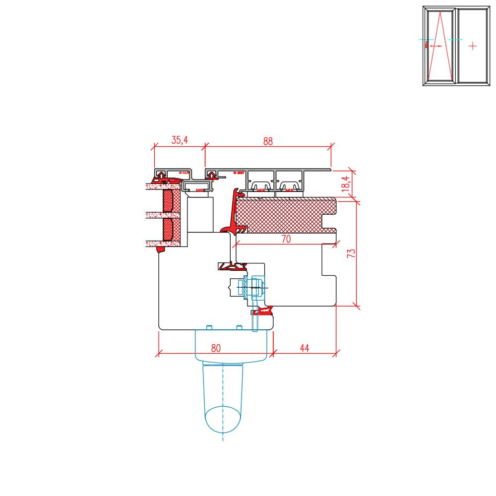 ECO Plano PSK - Detail Griffseite